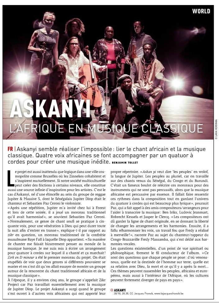 Askanyi - L'Afrique en musique classique