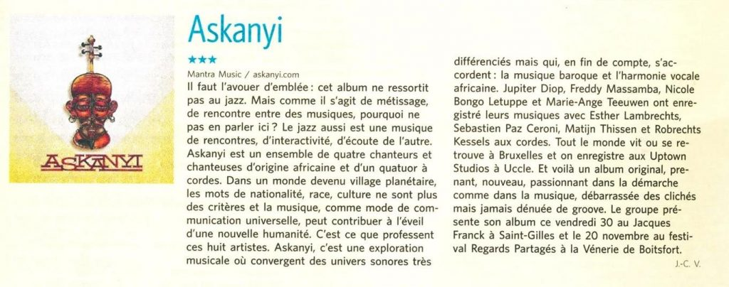 Askanyi in MAD, Le Soir